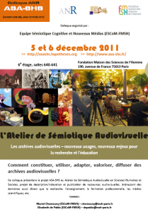 Colloque ASA-SHS 2011