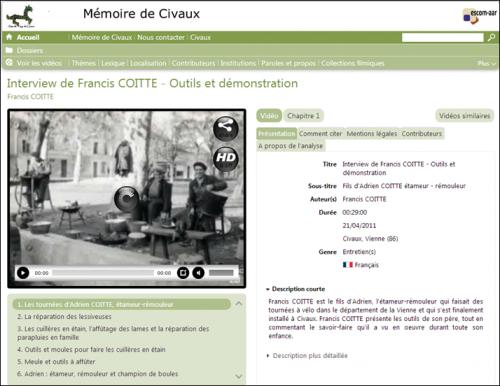 Archive audiovisuelle Francis Coitte Civaux